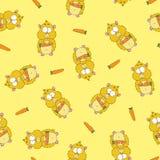 Teste padrão com hamster Imagem de Stock