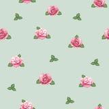 Teste padrão com ilustração cor-de-rosa da aquarela Imagem de Stock