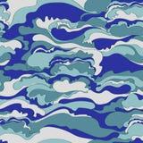 Teste padrão com a imagem da textura de creme de máscaras azuis e cinzentas abstraia o fundo Foto de Stock
