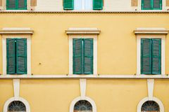 Teste padrão com janelas Foto de Stock Royalty Free