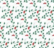 Teste padrão com joaninhas Imagens de Stock Royalty Free