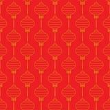 Teste padrão com lanternas chinesas Fotografia de Stock Royalty Free