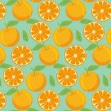Teste padrão com laranjas Imagem de Stock