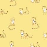 Teste padrão com leopardos Fotografia de Stock