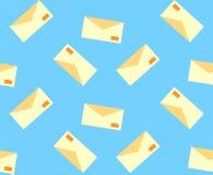 Teste padrão com letras do correio do papel ilustração do vetor