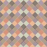 Teste padrão com linha colorida nos quadrados Fotografia de Stock