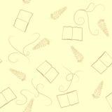 Teste padrão com livro e pena Imagem de Stock Royalty Free