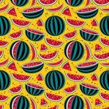 Teste padrão com melancias Foto de Stock Royalty Free
