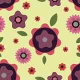 Teste padrão com motivo floral Imagens de Stock Royalty Free