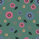 Teste padrão com motivo floral para o projeto Fotografia de Stock