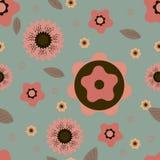 Teste padrão com motivo floral para o projeto Imagens de Stock Royalty Free