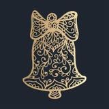 teste padrão com o ornamento floral do laço para a coleção do Natal Fotografia de Stock