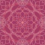 Teste padrão com o ornamento simétrico decorativo Fotos de Stock Royalty Free