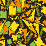 Teste padrão com objetos geométricos Ilustração Stock
