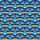 Teste padrão com ondas e triângulos Fotografia de Stock Royalty Free