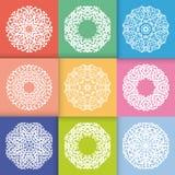 Teste padrão com ornamento redondos Imagens de Stock Royalty Free