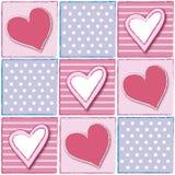 Teste padrão com os corações Imagem de Stock