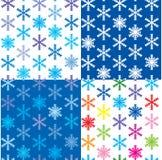 Teste padrão com os flocos de neve diferentes da cor Imagens de Stock