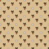 Teste padrão com os flocos de neve dos cervos e do pão-de-espécie Fotografia de Stock Royalty Free
