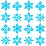 Teste padrão com os flocos de neve no branco Fotos de Stock
