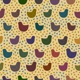 Teste padrão com os pássaros coloridos do brinquedo ilustração royalty free
