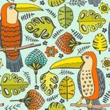 Teste padrão com pássaros ilustração royalty free