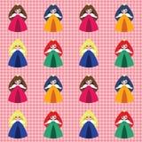 Teste padrão com princesas Imagens de Stock Royalty Free
