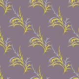 Teste padrão com ramos amarelos Fotografia de Stock