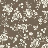 Teste padrão com rosas Foto de Stock Royalty Free