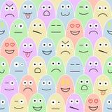 Teste padrão com sorrisos Foto de Stock Royalty Free