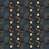 Teste padrão com textura sem emenda da flor Fotografia de Stock Royalty Free