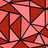 Teste padrão com triângulo vermelho Imagens de Stock