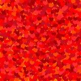 Teste padrão com um coração vermelho Fotos de Stock Royalty Free