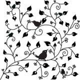 Teste padrão com um pássaro Imagens de Stock