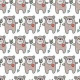 Teste padrão com ursos Foto de Stock