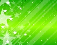 Teste padrão com verde das estrelas Imagem de Stock Royalty Free