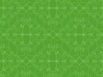 Teste padrão complexo dos corações no fundo verde Imagens de Stock