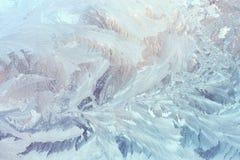Teste padrão congelado gelado no vidro imagens de stock royalty free
