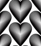 Teste padrão contínuo com linhas gráficas pretas, a decorativo do vetor Foto de Stock