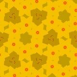 Teste padrão contínuo de matéria têxtil do bebê em amarelo e em alaranjado ilustração royalty free