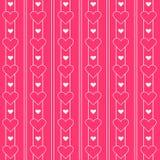 Teste padrão cor-de-rosa bonito dos corações Série da princesa Foto de Stock