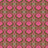 Teste padrão cor-de-rosa com elementos geométricos Fotografia de Stock