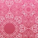Teste padrão cor-de-rosa da mandala Fotos de Stock Royalty Free
