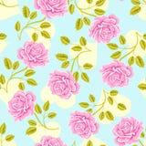 Teste padrão cor-de-rosa das rosas ilustração royalty free