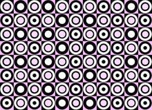 Teste padrão cor-de-rosa do círculo. Vetor Fotos de Stock Royalty Free