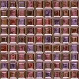 Teste padrão cor-de-rosa do tijolo de vidro Fotos de Stock Royalty Free