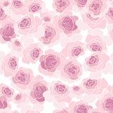 Teste padrão cor-de-rosa do vetor das flores das rosas Imagens de Stock Royalty Free