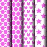 Teste padrão cor-de-rosa dos grupos Foto de Stock