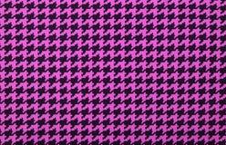 Teste padrão cor-de-rosa e preto do houndstooth imagem de stock royalty free