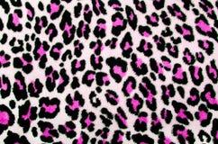 Teste padrão cor-de-rosa e preto do leopardo ilustração stock